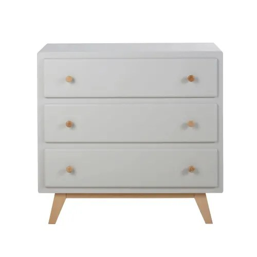 grey 3 drawer chest of drawers compatible with changing board maisons du monde
