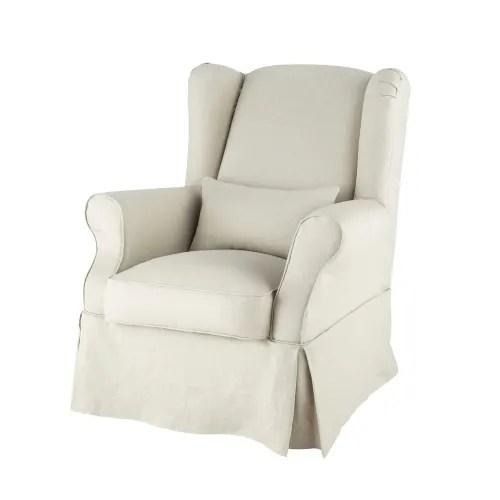 housse de fauteuil en lin maisons du monde