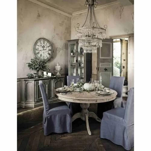 Metallo bianco presi da maison du monde stile shabby chic, in stato ottimo. Lampadario Grigio In Metallo Con Pendenti Eleonore Maisons Du Monde