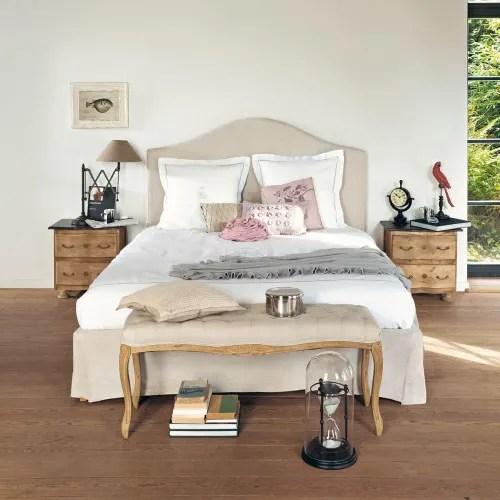 Dai un'occhiata ai nostri mobili e oggetti decorativi e fai i pieno di ispirazione! Letto Sfoderabile In Lino 160x200 Cm Danceny Maisons Du Monde