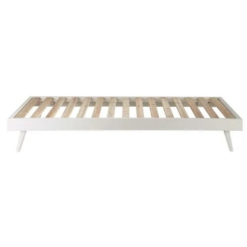 lit banquette 90x190 en pin blanc maisons du monde