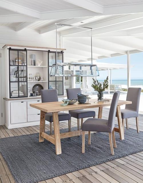mango wood 6 8 seater dining table l180 maisons du monde
