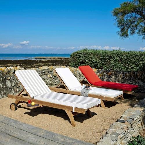 matelas pour bain de soleil ecru maisons du monde