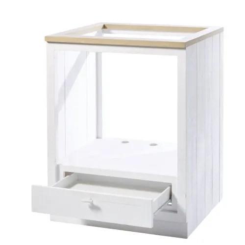meuble bas de cuisine pour four 1 tiroir blanc maisons du monde