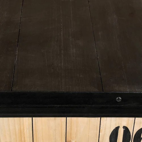 meuble cd dvd en metal noir h 78 cm maisons du monde