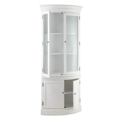 meuble d angle en bois blanc l 68 cm maisons du monde
