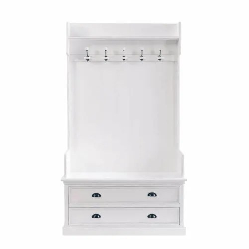 meuble d entree avec 5 pateres blanc l 110 cm maisons du monde