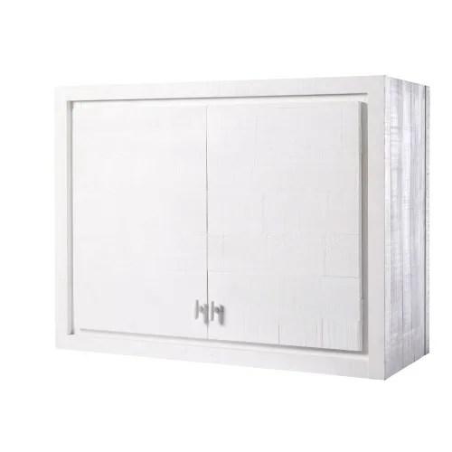meuble haut de cuisine 2 portes blanc maisons du monde