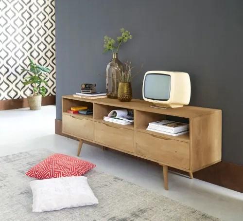 meuble tv vintage en manguier maisons du monde