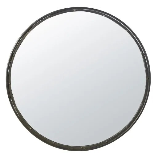miroir rond en metal noir d120 maisons du monde