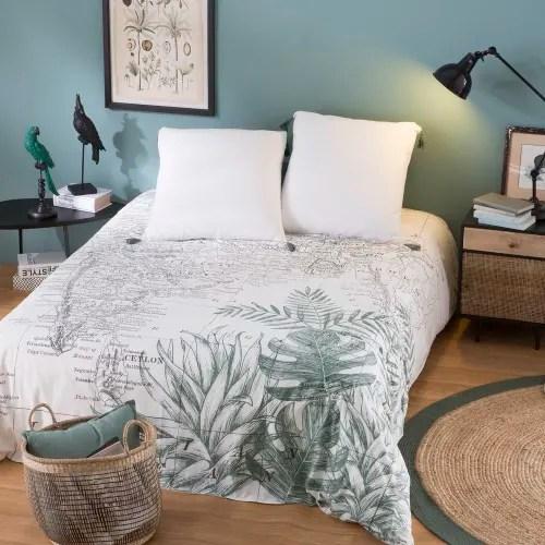 Tende moderne di lino per camera da letto marinigerardi. Parure Da Letto In Cotone Con Stampa Cartina Dell India 220x240 Siwana Maisons Du Monde