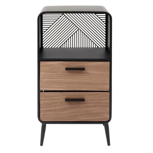 petit meuble de rangement 1 niche 2 tiroirs maisons du monde