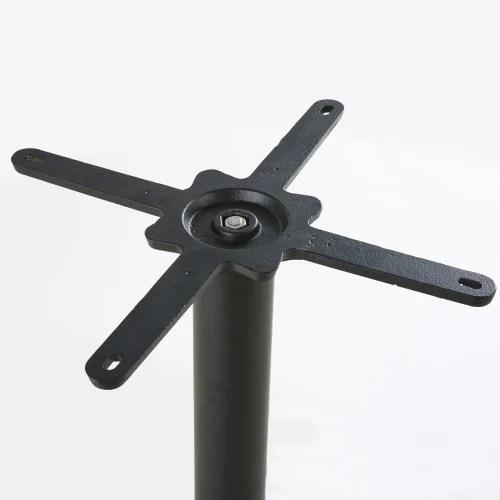pied de table haute professionnel en metal noir h100 maisons du monde