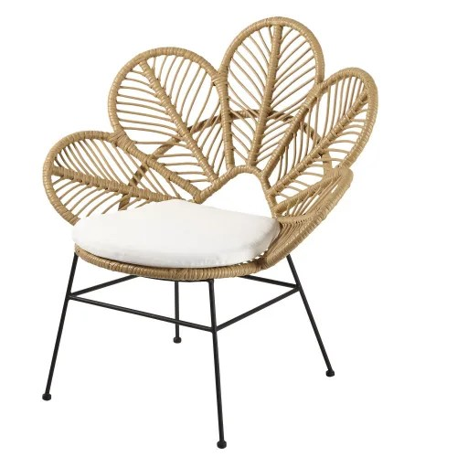 Dai un'occhiata ai nostri mobili e oggetti decorativi e fai i pieno di. Poltrona Da Giardino In Resina Bianca E Cuscino Ecru Colibri Maisons Du Monde