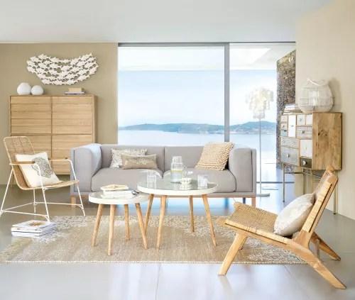 Sedia bistrot in rattan e legno di betulla bianca di maison di monde in eccellenti condizioni, accompagnava una scrivania in uno studio utilizzato pochissime volte. Poltrona In Rattan Intrecciato Ticao Maisons Du Monde
