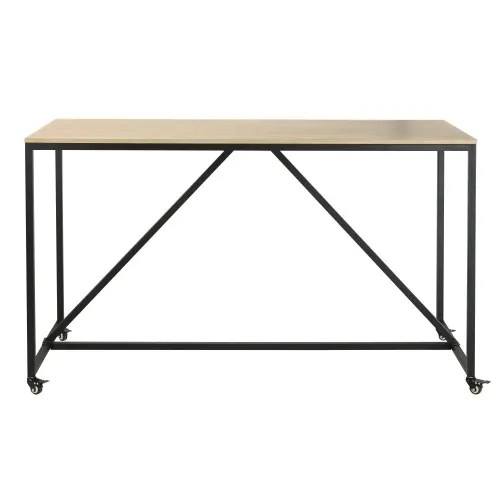 professional high dining table on wheels w180 maisons du monde