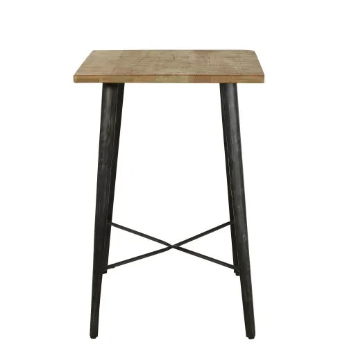 professional mango wood tall dining table w70 maisons du monde