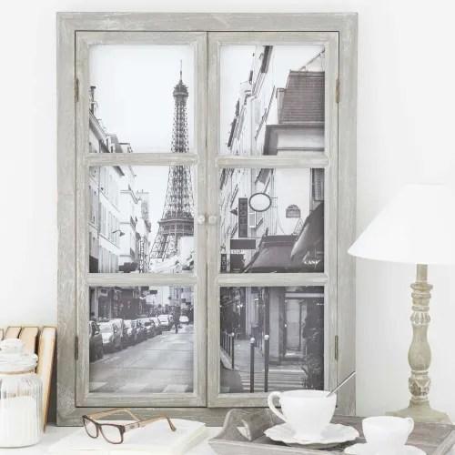Le tele di maison du monde sono una valida scelta per chi ha voglia. Quadro In Legno Con Finestra 57x79 Cm Paris Maisons Du Monde