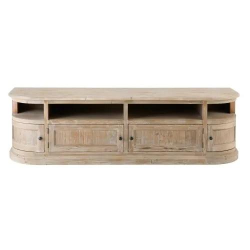 Mobile tv a 2 ante e 1 cassetto in legno massello di acacia tony su maisons du monde. Recycled Pine 4 Door Tv Cabinet Flaubert Maisons Du Monde