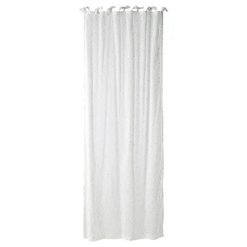 rideau a nouettes en coton blanc a l unite 102x250 maisons du monde