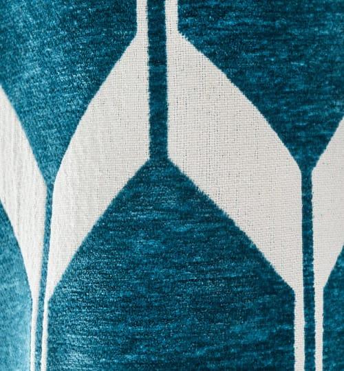 rideau a oeillets bleu canard a l unite 140x300 maisons du monde