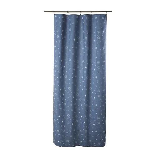 rideau a œillets bleu marine imprime a l unite 110x250 maisons du monde