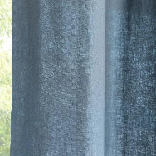 rideau a œillets en lin lave bleu marine a l unite 130x300 maisons du monde
