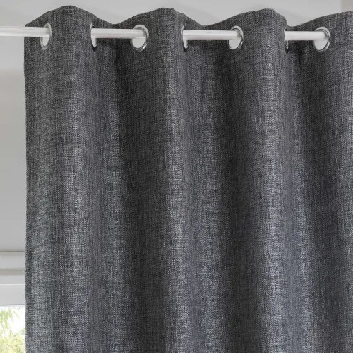 rideau a œillets gris anthracite a l unite 130x300 maisons du monde