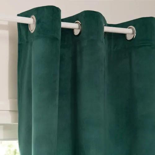 rideau a œillets vert emeraude 140x250 maisons du monde