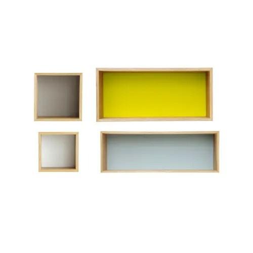 Maisons du monde inaugura in media una ventina di negozi all'anno in. Scaffali Da Parete Vintage Multicolori X4 Fjord Maisons Du Monde