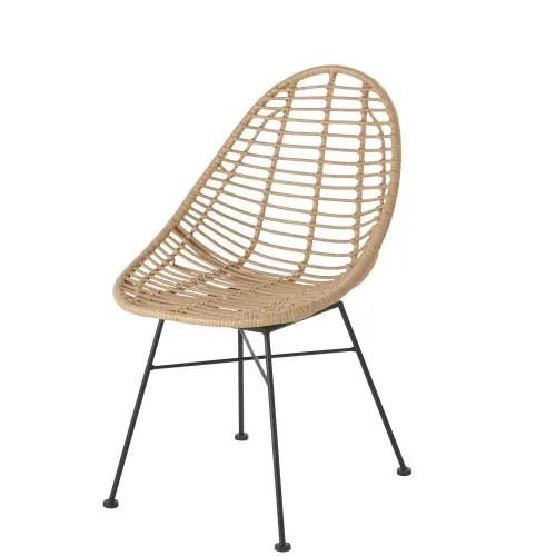 Dai un'occhiata ai nostri mobili e oggetti decorativi e fai i pieno di. Sedia Da Giardino In Resina Effetto Rattan E Metallo Nero Tolum Maisons Du Monde