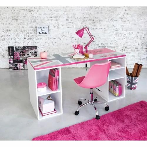 Visualizza altre idee su sedie d'epoca, tavoli rotondi bianchi, tavolini estraibili. Sedia Da Scrivania Rosa A Rotelle Bristol Maisons Du Monde