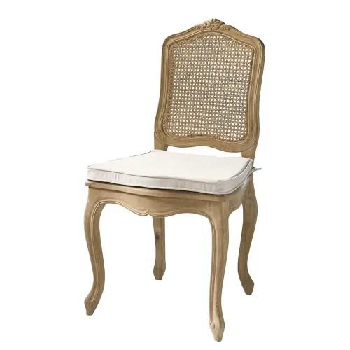 sedie maison du monde (4) gambe :struttura in metallo verniciato a polvere (bianco) seduta: Sedia Impagliata In Massello Di Quercia Gustavia Maisons Du Monde
