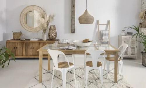 Nelle novità arredamento troviamo specchi, tessili. Sedia In Metallo Bianco E Mango Multipl S Maisons Du Monde