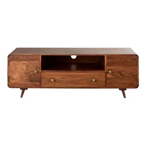 Dai un'occhiata ai nostri mobili e oggetti decorativi e fai i pieno di ispirazione! Solid Acacia 2 Door 1 Drawer Tv Unit Tony Maisons Du Monde