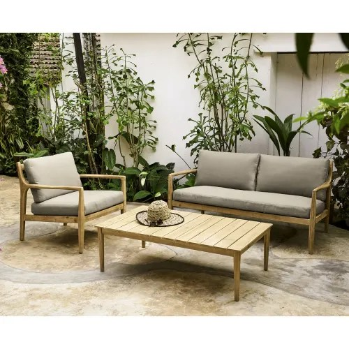 Come scegliere il salotto da giardino? Solid Acacia Garden Coffee Table Galapagos Maisons Du Monde