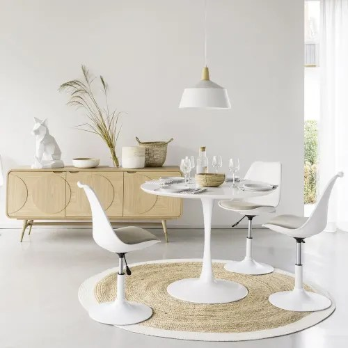 table a manger ronde blanche 4 5 personnes d100 maisons du monde