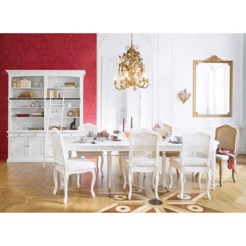 table a manger ronde extensible 4 a 14 personnes en bouleau blanc l120 280 maisons du monde