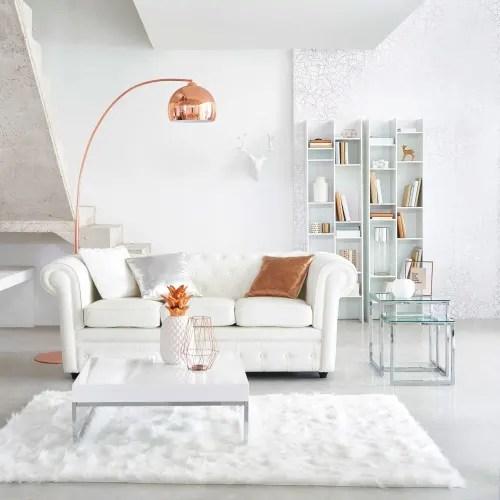 table basse blanc laque maisons du monde