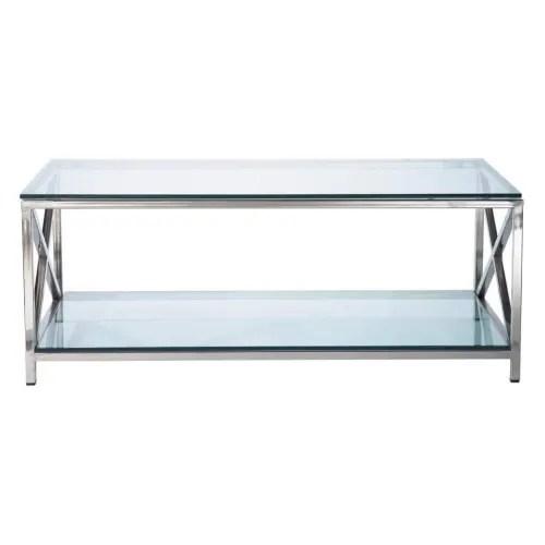 table basse en verre et metal l110 maisons du monde