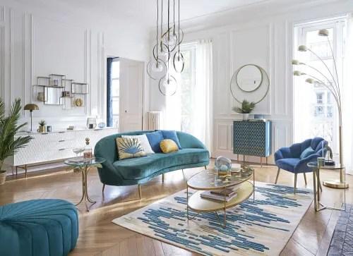 table basse ovale 2 plateaux coloris laiton maisons du monde