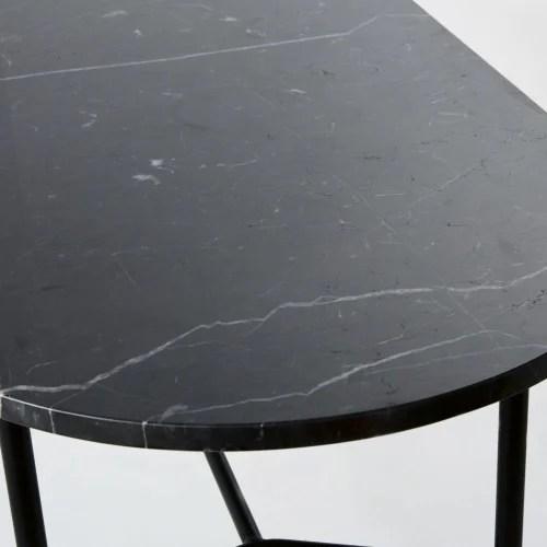 table basse ovale en marbre noir maisons du monde