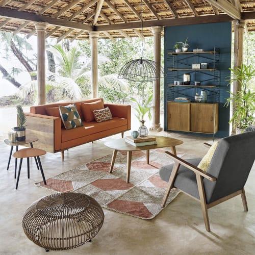 table basse vintage en manguier maisons du monde