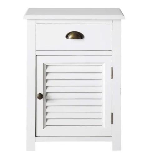 table de chevet 1 tiroir blanche maisons du monde