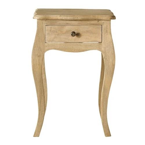 table de chevet 1 tiroir en manguier et acacia maisons du monde