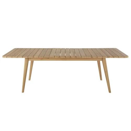 table de jardin extensible en acacia massif 8 10 personnes l180 240 maisons du monde