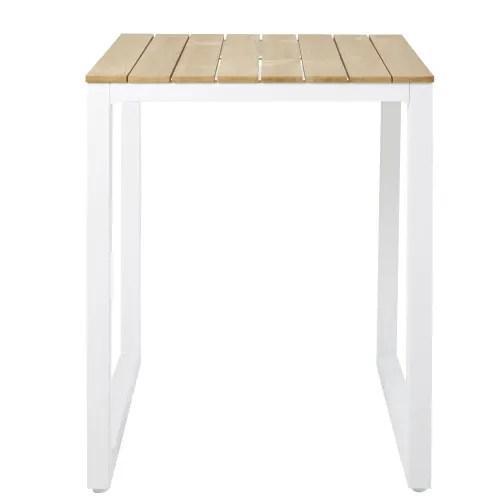 table haute de jardin professionnelle en teck l75 maisons du monde
