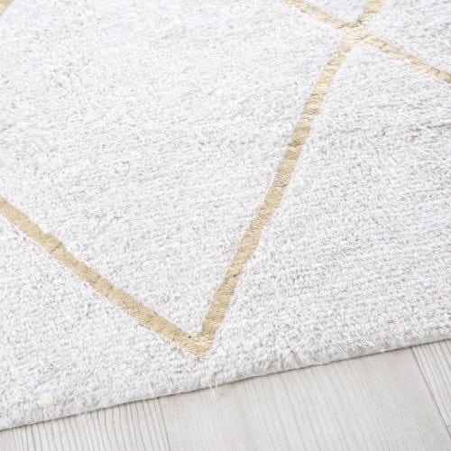 tapis berbere en coton ecru et dore 160x230 maisons du monde