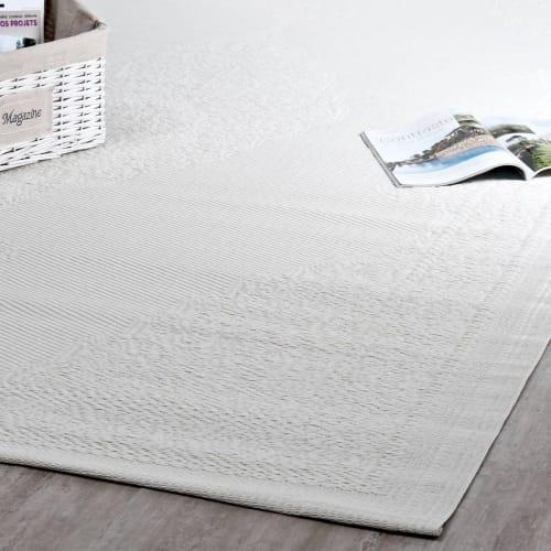 tapis d exterieur en polypropylene blanc 180x270 maisons du monde