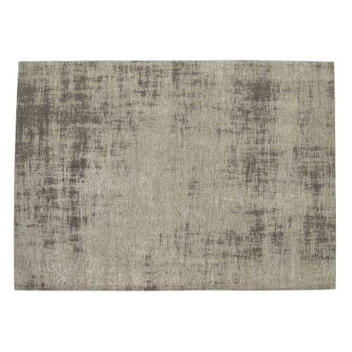 tapis en coton gris 140 x 200 cm maisons du monde